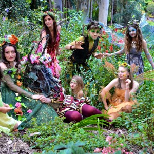 The fairies with Puck and Bottom