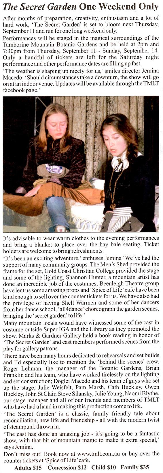 Tamborine Times, 4/9/2014